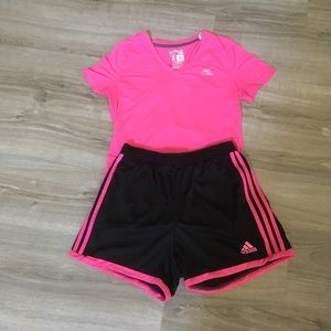 Adidas climate control set pink small
